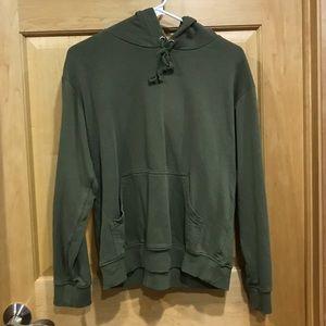 H & M basic olive green hoodie sweatshirts xs